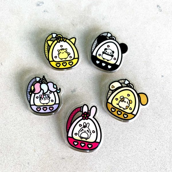 Mochi Buddies Mochigotchi Brooch